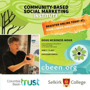 Community-Based Social Marketing Institute @ Selkirk College Castlegar Campus