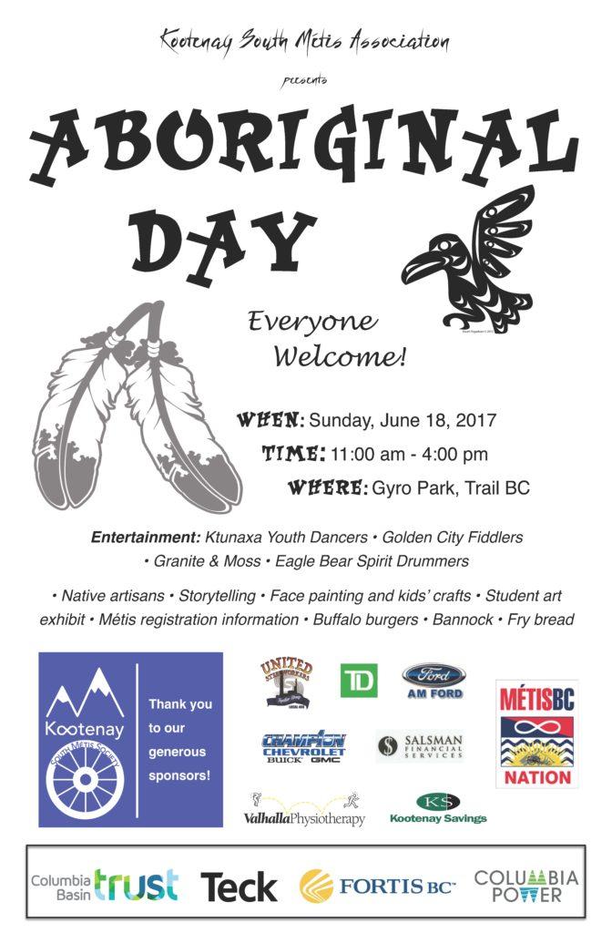 Aboriginal Day in Trail @ Gyro Park, Trail BC