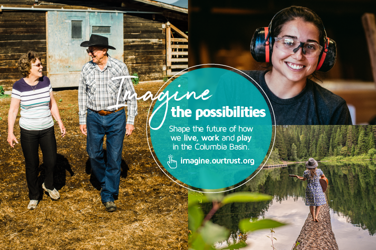 Shape the Future of How We  Live, Work and Play in the Columbia Basin