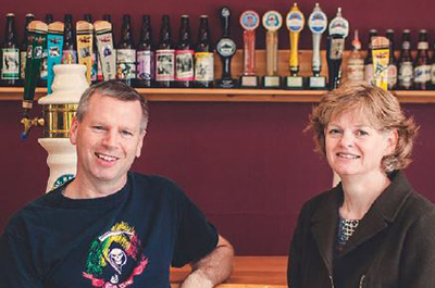 Bart and Tracey Larson, owners of Mt. Begbie Brewing Co. in Revelstoke.
