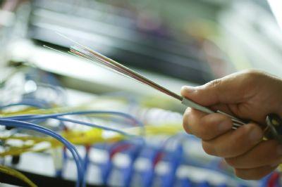 Fibre optic cable.