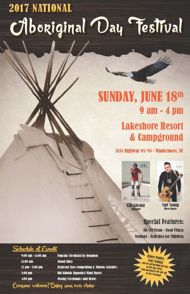 Aboriginal Day Festival in Windermere @ Lakeshore Resort & Campground, Windermere