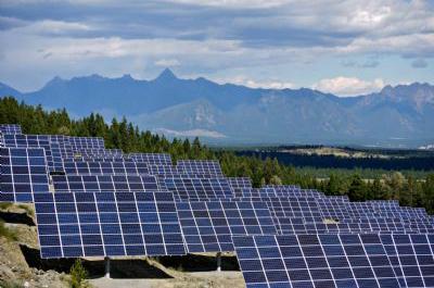 Solar panels at Kimberley's SunMine.