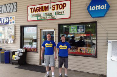 Taghum Stop owners Cam Robertson (left) and Shawn Robertson (right).