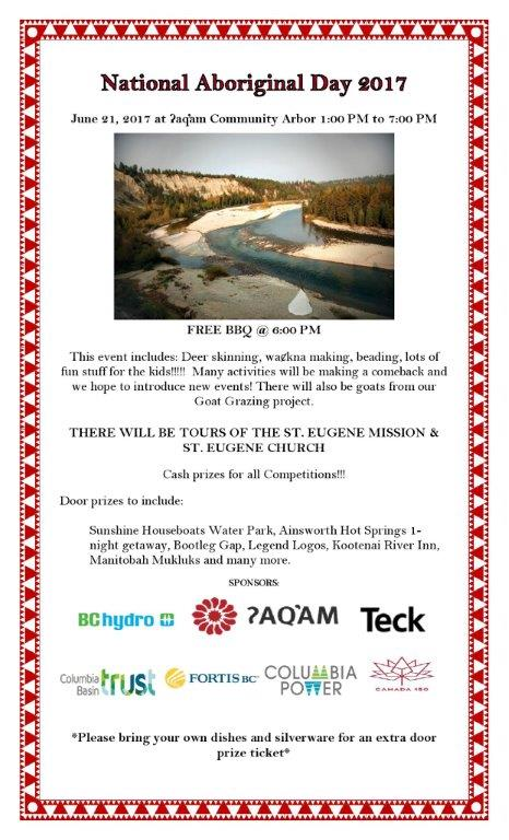 Aboriginal Day with ?Aq'am @ ?Aq'am Community Arbor