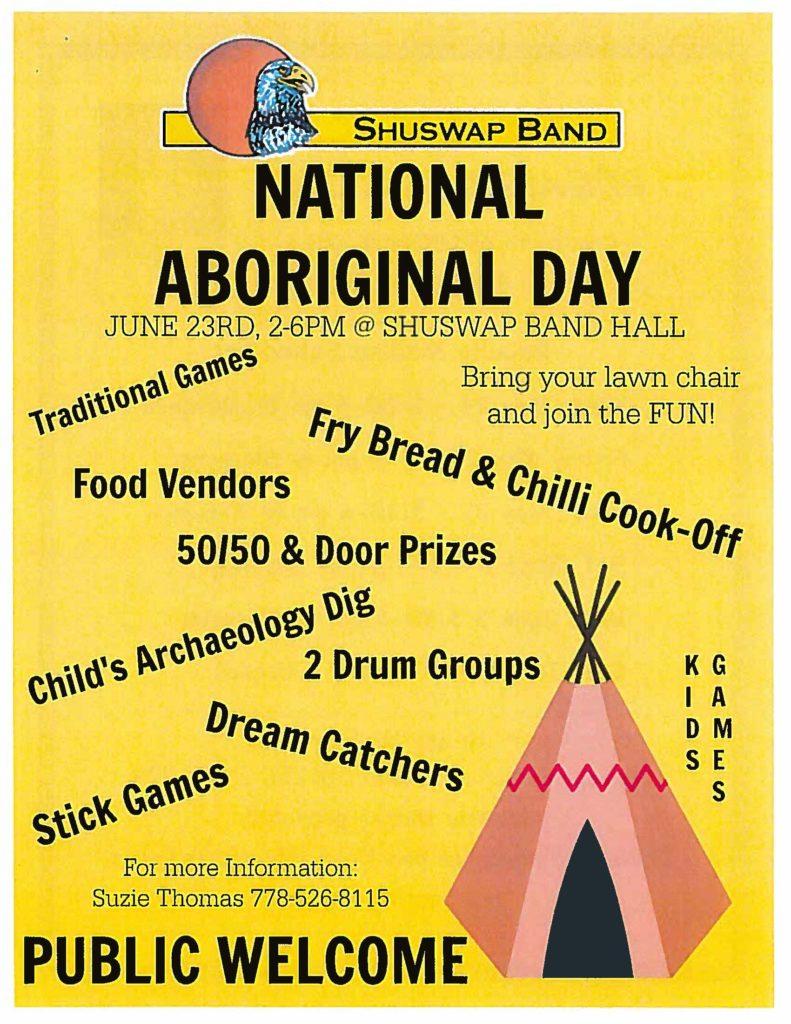 Aboriginal Day at Shuswap Band Hall @ Shuswap Band Hall